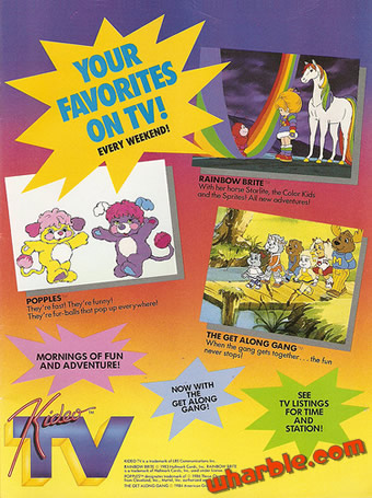 Rainbow Brite Cartoons Ad
