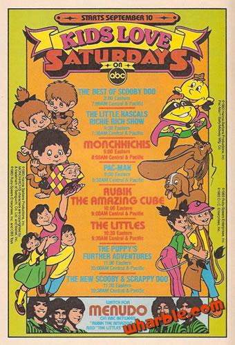 ABC 1983 Saturday Morning Cartoons Ad