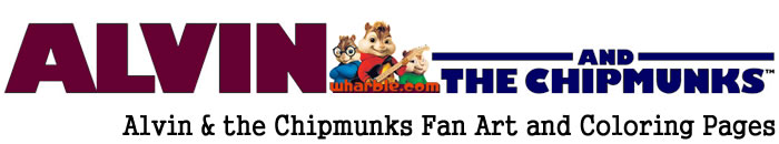 Alvin & the Chipmunks Fan Art and Coloring Pages