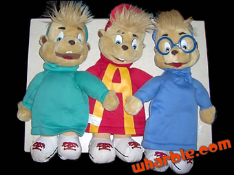 Alvin & the Chipmunks Hand Puppets