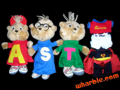 Alvin & The Chipmunks Plush with Outfits