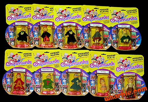 The Chipmunks Poseable Play Pals Set
