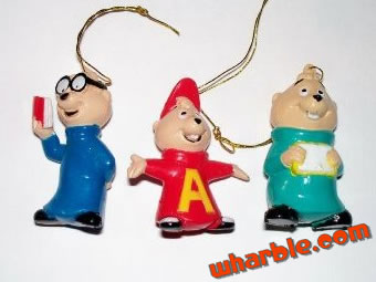 Miniature Alvin & the Chipmunks Ornaments