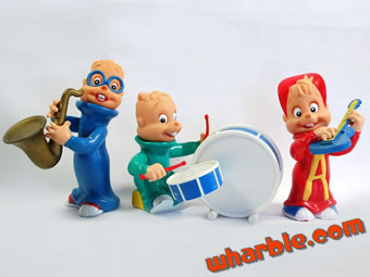 Alvin & the Chipmunks KFC Figures