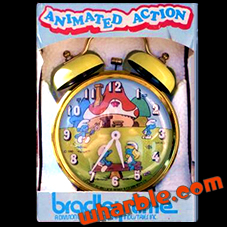 Smurf Animated Action Clock