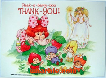 Berrykins Thank You Card