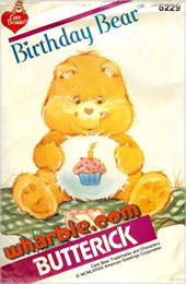 Birthday Bear Pattern