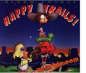 Bloom County Book - Happy Trails!