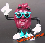 Blue Sunglasses California Raisin Figure