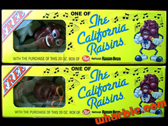 California Raisin Bran Figures