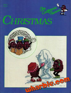 California Raisins Cross Stitch Book