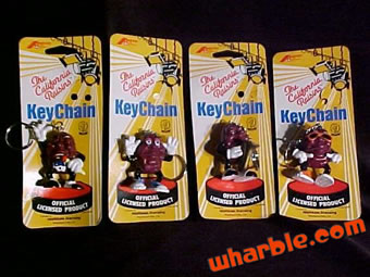 California Raisins Keychains