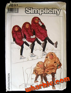 California Raisins Sewing Pattern