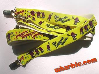 California Raisins Suspenders