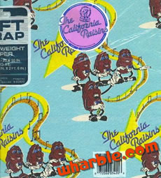 California Raisins Wrapping Paper