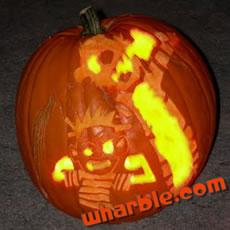 Calvin & Hobbes Jack-o-Lantern