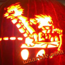 Calvin & Hobbes Jack O'Lantern