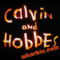 Calvin & Hobbes Logo Pumpkin