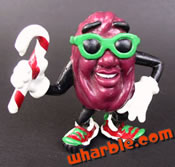 Candy Cane California Raisin Figure
