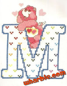 Care Bears Alphabet Cross Stitch