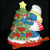 Christmas Smurf Ceramic Figurines