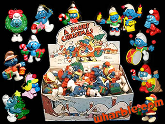 Christmas Smurfs Figures