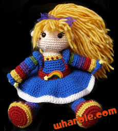 Crocheted Rainbow Brite