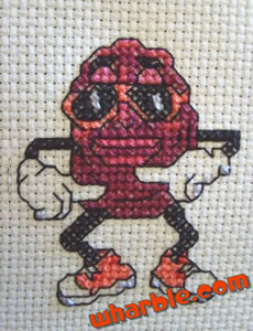 California Raisins Cross Stitch