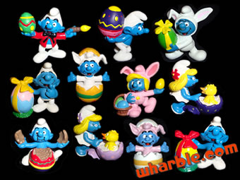 Easter Smurfs Figures