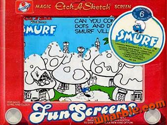 Etch-A-Sketch Smurf Screens