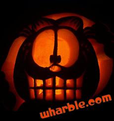 Garfield Carved Pumpkin