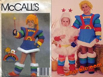 Handmade Rainbow Brite Costume