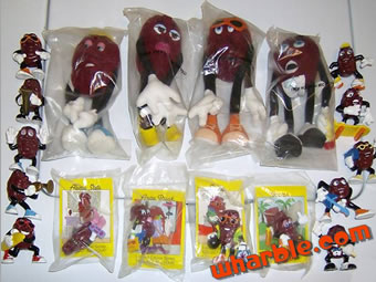Hardee's California Raisin Figures