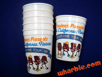 California Raisins Cups from Hardee's