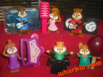 Alvin & the Chipmunks McDonalds Figures