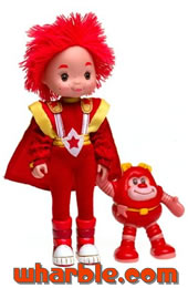 New Red Butler Doll