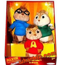 Plush Chipmunks 3 Pack