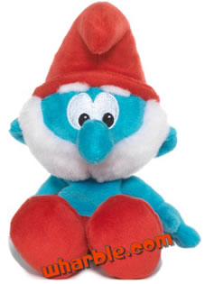 Plush Papa Smurf Toy