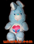 Plush Swift Heart Rabbit - Care Bear Cousin