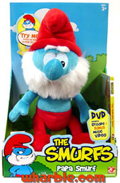 Plush Talking Papa Smurf