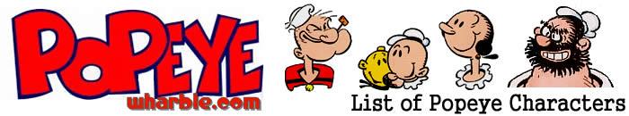 Popeye Characters List