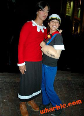 Popeye & Olive Costumes Reversal