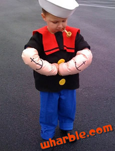 Popeye Kids Costume