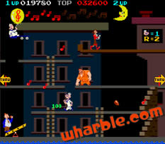 Popeye the arcade game - Level 2, Street Stage
