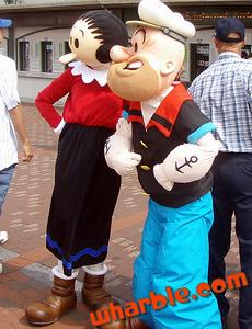 Popeye & Olive Mascots