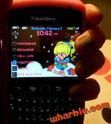Rainbow Brite Blackberry Theme