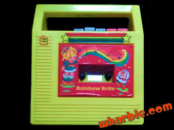 Rainbow Brite Cassette Player