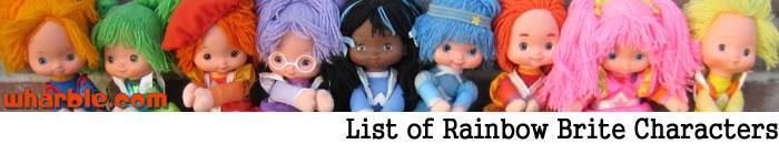 Rainbow Brite Character List