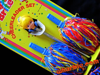 Rainbow Brite Cheerleader Pom Poms