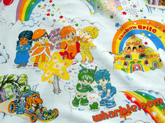 Vintage Rainbow Brite Twin Bed Sheets NO KIDDING by kestercorner